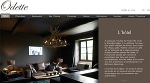 Site internet de Chez Odette