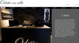 Site Internet d'Odette en ville