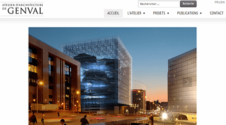 Site Internet de Genval Architecture