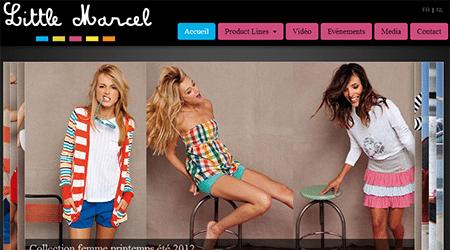Site Internet de Little Marcel Belgique