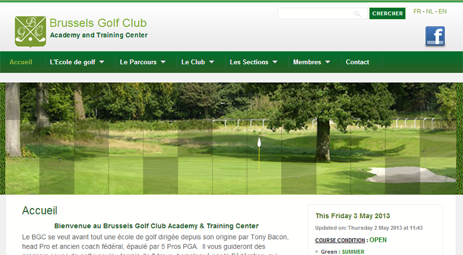 Site Internet Brussels Golf Club