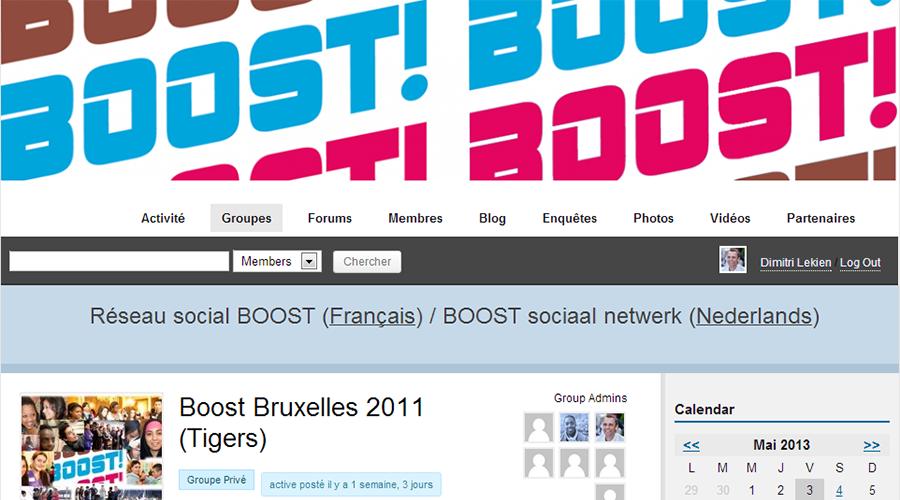 i-Boost (Site Internet & Réseau Social)