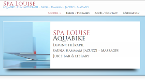 Spa-Louise (Site Internet & Reservations Online)