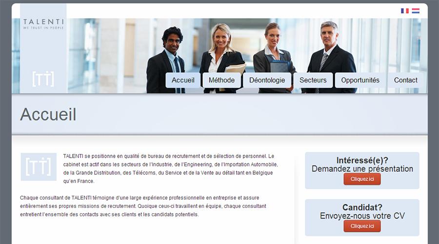 Talenti.be (Site Internet)