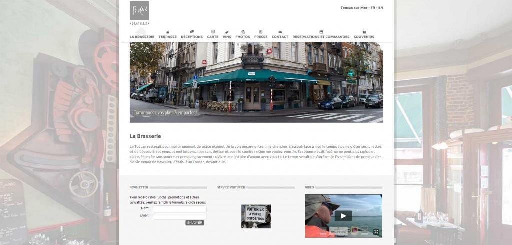 Création du site internet du Toucan Brasserie & Toucan sur mer à Bruxelles - Uccle - Belgique