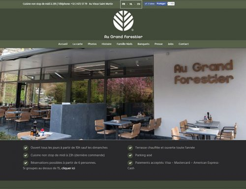 Restaurant « Au Grand Forestier » (Site Internet)