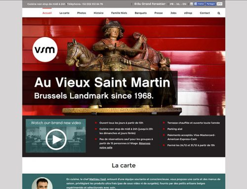 "Restaurant ""Au Vieux Saint Martin"" (Website)"