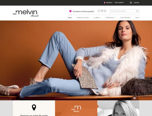 Vêtements Melvin (Site Internet E-commerce)