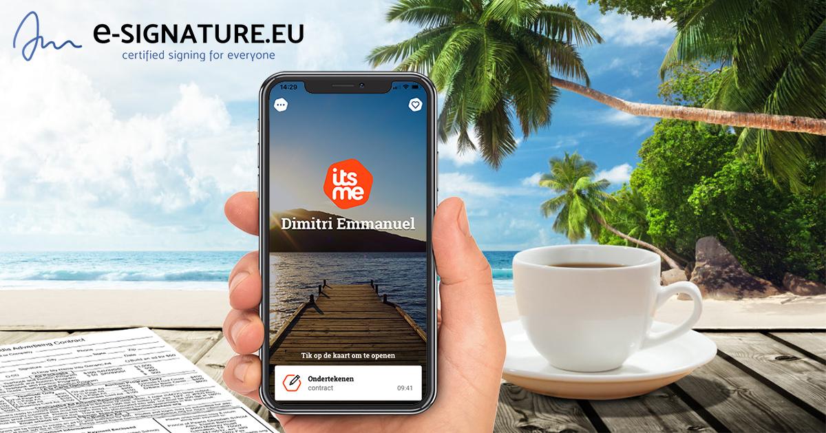 e-signature gekwalificeerd istme sign iphone smartphone ondertekenen doccle
